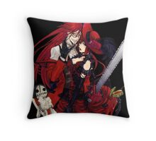 grell and madam red together  Throw Pillow