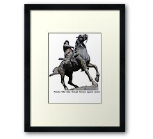 Poncho Villa rides into Arizona Framed Print