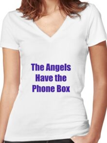 The Angels Have The Phone Box Women's Fitted V-Neck T-Shirt