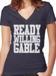 Ready Willing & Gable Women's Fitted V-Neck T-Shirt