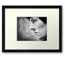 Sherlock - A Study In Pink - Black & White Framed Print