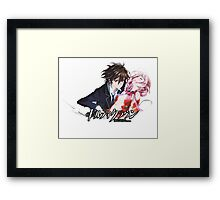 shu holding inori from guilty crown  Framed Print