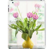 Pink Tulips In The Window iPad Case/Skin