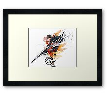 shu and inori up in arms together Framed Print