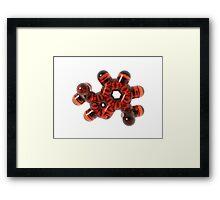 3D Theobromine (Chocolate) Molecule Framed Print