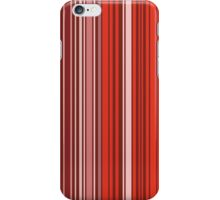 Many colorful stripe pattern in red iPhone Case/Skin