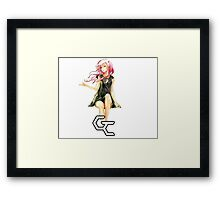 inori lost in the wind Framed Print
