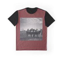 Evening Alpacas Graphic T-Shirt
