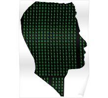 Mr Robot: Elliot Binary Head Poster
