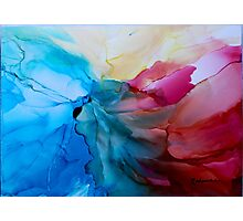 """""""In Bloom"""" - Colorful, Original Artist's Ink Painting! Photographic Print"""