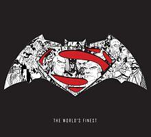 Batman Superman Illustration Dark by base501