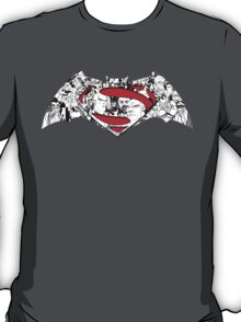 Batman Superman Illustration Dark T-Shirt