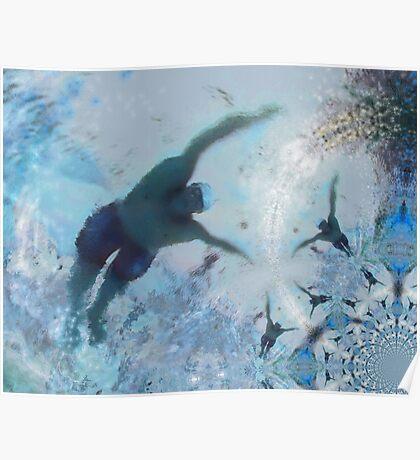 Swim Fractal 01 Poster