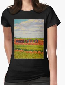 Landscape Pipeline Womens Fitted T-Shirt