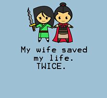 My wife saved my life. Twice. Classic T-Shirt
