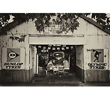 Old Town Garage Photographic Print