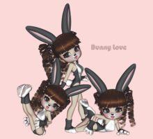 Bunny Love Triplets One Piece - Short Sleeve
