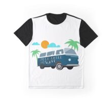 Just Smile and Wave - Surfing Design Graphic T-Shirt