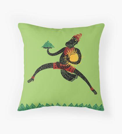 Hanuman's Leap Throw Pillow