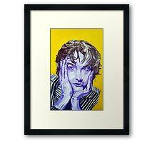 Jarvis Cocker Acrylic on Canvas Framed Print