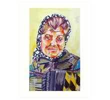 Newcastle Busker Acrylic on Canvas Art Print