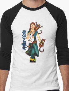 """Skyecatz: """"Mother of Cats"""" Men's Baseball ¾ T-Shirt"""