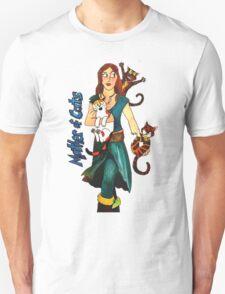 """Skyecatz: """"Mother of Cats"""" T-Shirt"""