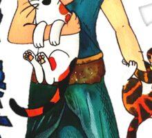 "Skyecatz: ""Mother of Cats"" Sticker"