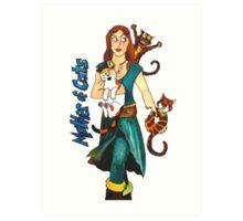 """Skyecatz: """"Mother of Cats"""" Art Print"""
