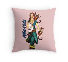 "Skyecatz: ""Mother of Cats"" Throw Pillow"