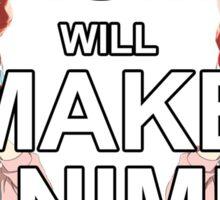 Donald Trump will Make Anime Real Sticker
