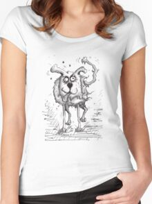 Shaggy Dog Hound Women's Fitted Scoop T-Shirt
