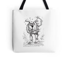 Shaggy Dog Hound Tote Bag