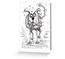 Shaggy Dog Hound Greeting Card
