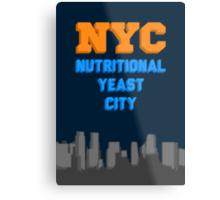 Nutritional Yeast City Metal Print