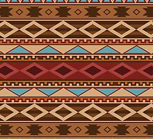 Navajo Native American Pattern by thepixelgarden