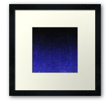 Blue & Black Glitter Gradient Framed Print