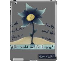 Flowers, Books and the Moon iPad Case/Skin