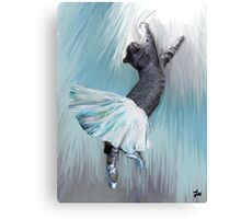 Les Pointes, Lil Grey in Blue Canvas Print