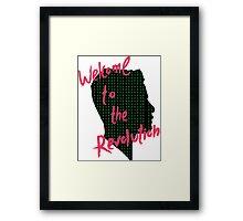 Mr Robot: Welcome to the Revolution, Elliot Binary Head Framed Print