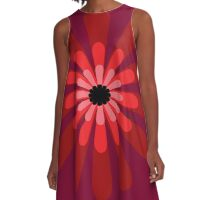 Red flower A-Line Dress