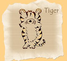 Baby tiger by Trish Loader