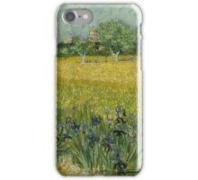 View of Arles with Irises by Vincent van Gogh iPhone Case/Skin