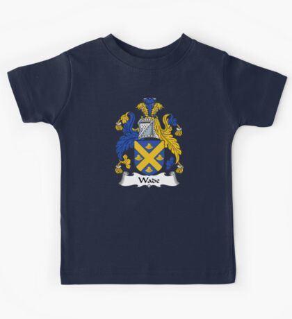 Wade Coat of Arms / Wade Family Crest Kids Tee