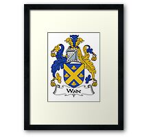 Wade Coat of Arms / Wade Family Crest Framed Print