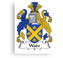 Wade Coat of Arms / Wade Family Crest Canvas Print