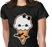 Cute Bat Cream Cone Womens Fitted T-Shirt