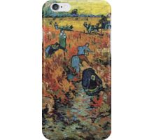 The Red Vineyard by Vincent van Gogh iPhone Case/Skin