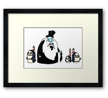 Ice King Crossover Penguin Framed Print