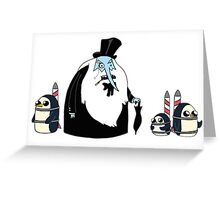 Ice King Crossover Penguin Greeting Card